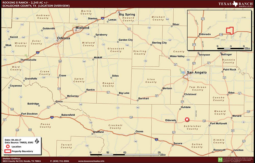 2245 Acre Ranch Schleicher Location Map Map