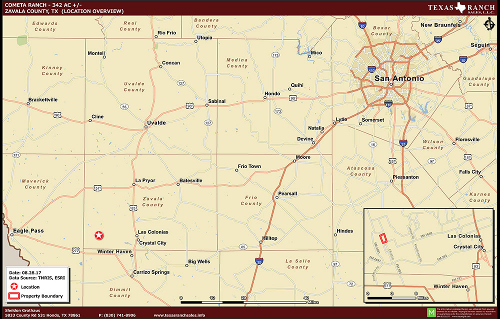 342 Acre Ranch Zavala Location Map Map