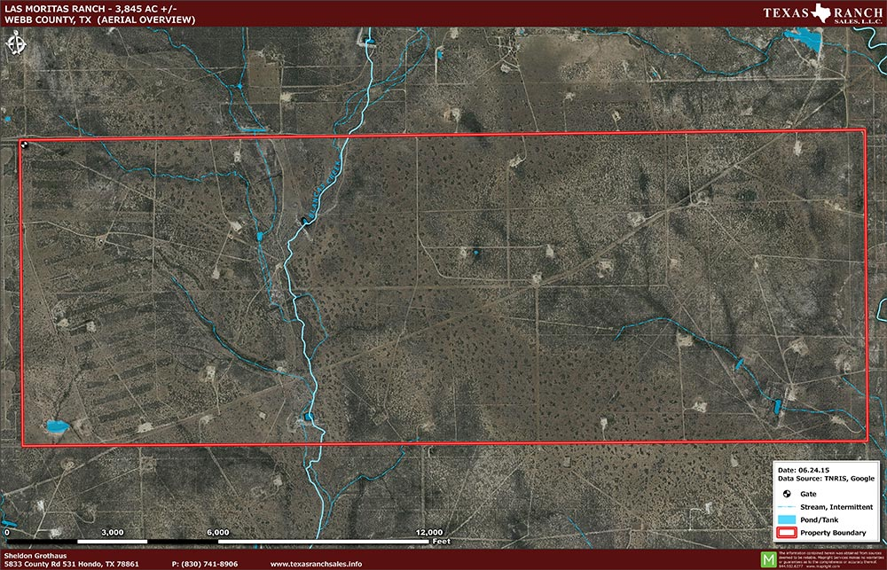 3845 Acre Ranch Webb Aerial Map