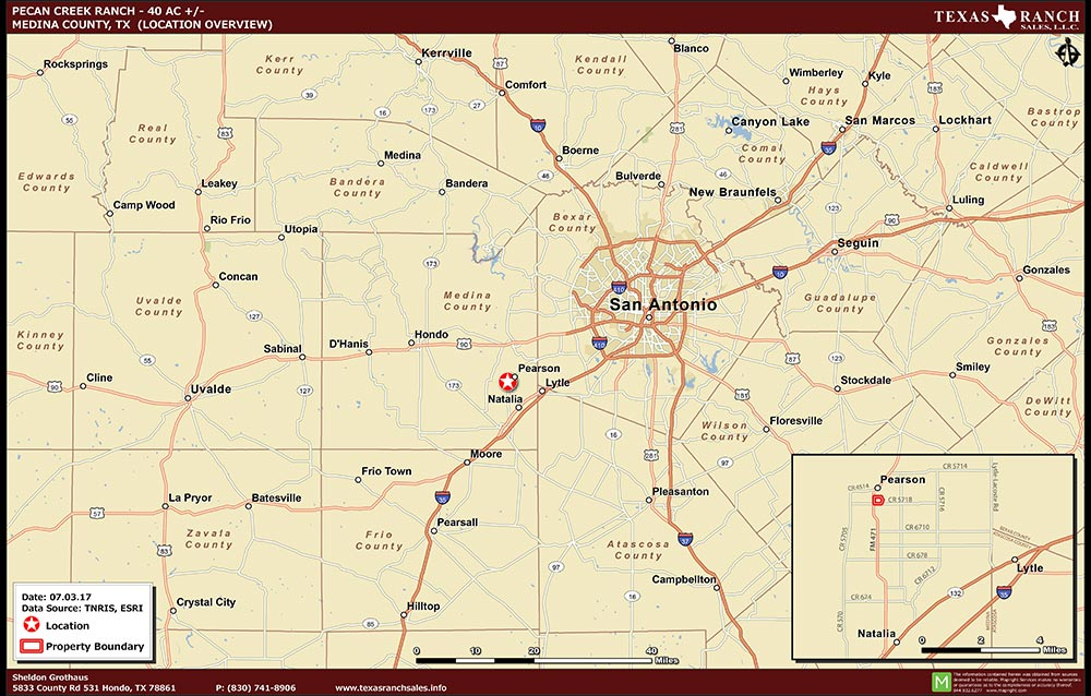 40.897 Acre Ranch Medina Location Map Map