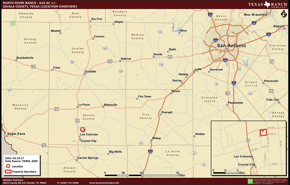610 Acre Ranch Zavala Location Map Map