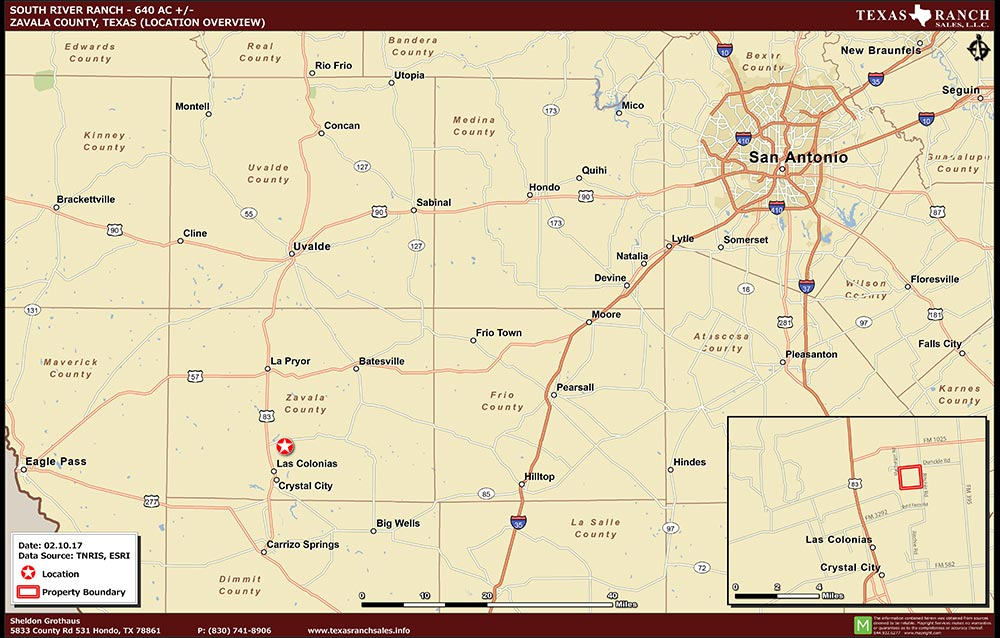 640 Acre Ranch Zavala Location Map Map