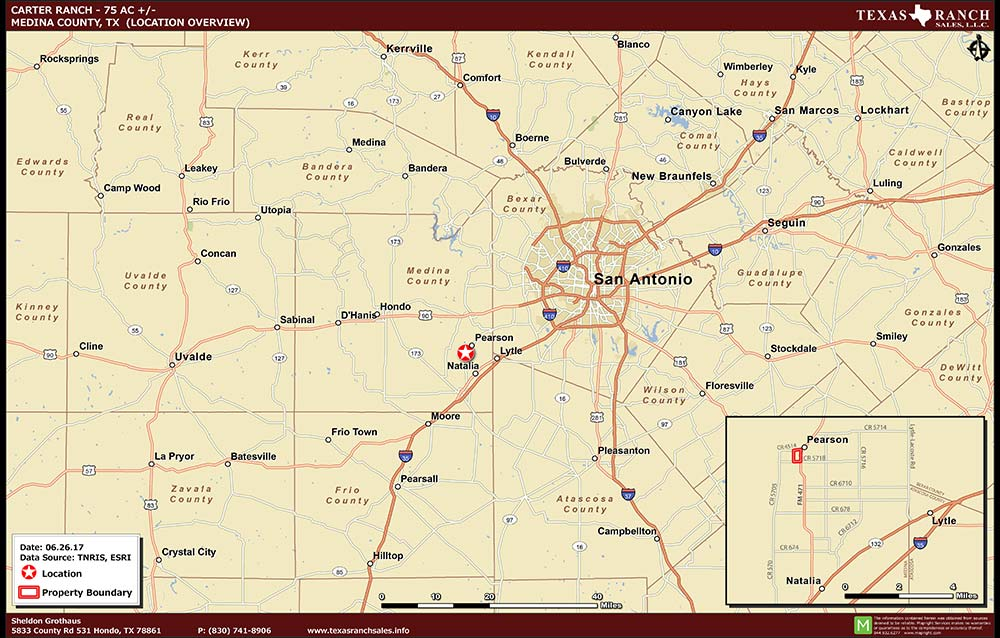 75 Acre Ranch Medina Location Map Map