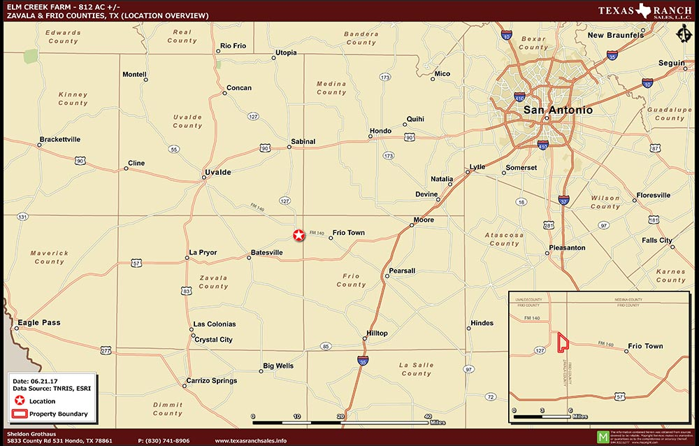 812 Acre Ranch Zavala Location Map Map