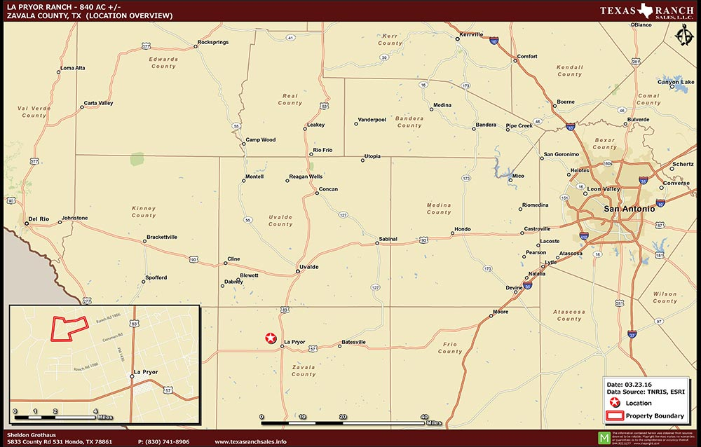 840 Acre Ranch Zavala Location Map Map