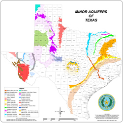 Texas Minor Aquifers.